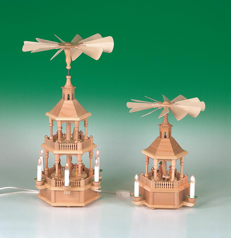 Pyramide Christi Geburt - natur - elektrisch