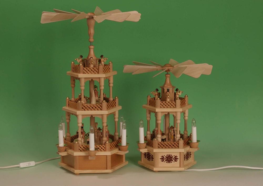 Pyramide Christi Geburt, natur elektrisch