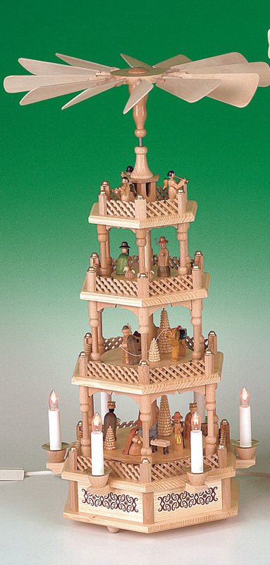 Pyramide Christi Geburt natur, elektrisch
