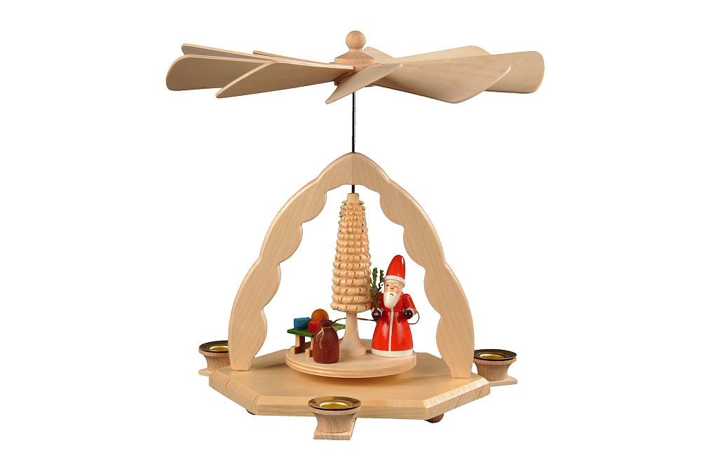Bogenpyramide natur - Weihnachtsmann