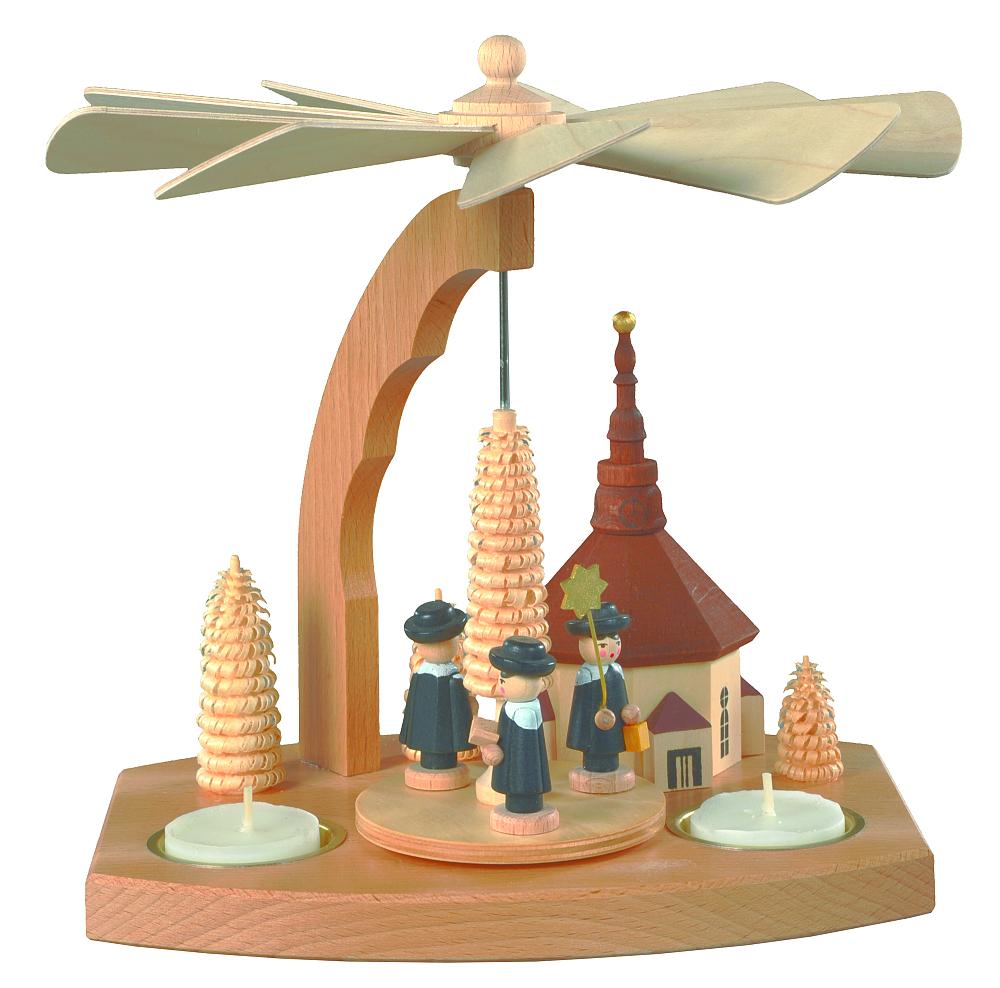 Pyramide Teelichter Seiffener Kirche